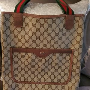 Authentic Gucci Sherry Web line Tote